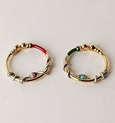 Gold plated magnetic diode rings (JGD)